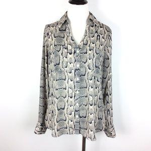 Express The Portofino Snakeskin Print Shirt Size S